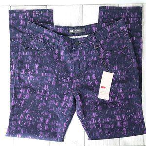 Levi's Mid Rise Skinny Purple/Black Jeans